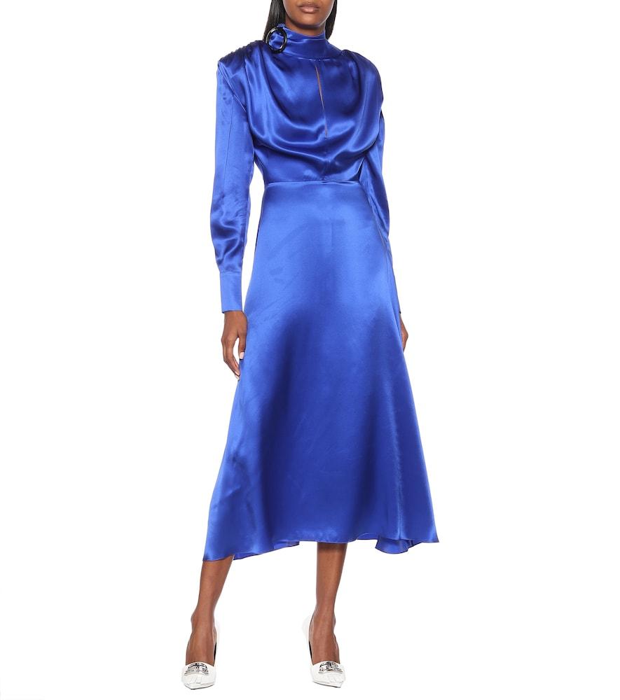 Silk-satin midi dress by Matériel Tbilisi