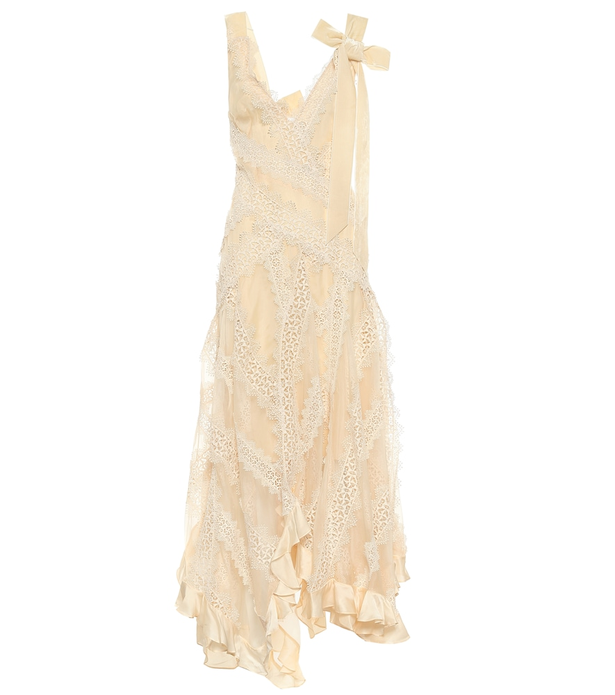 Charm Star silk chiffon dress by Zimmermann
