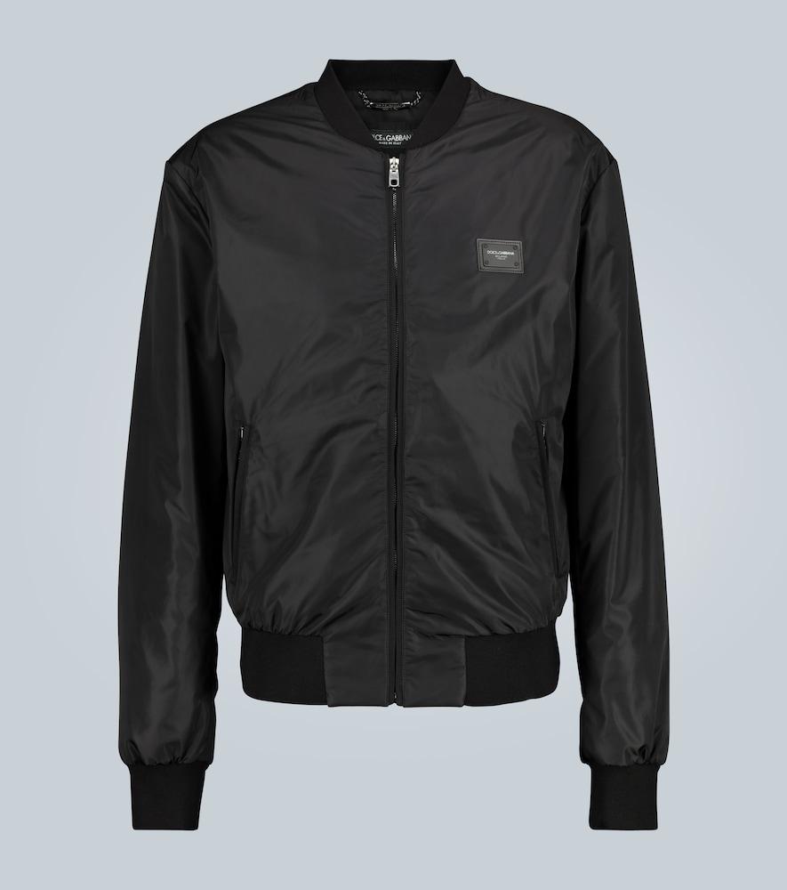 Veste bomber à logo - Dolce & Gabbana - Modalova