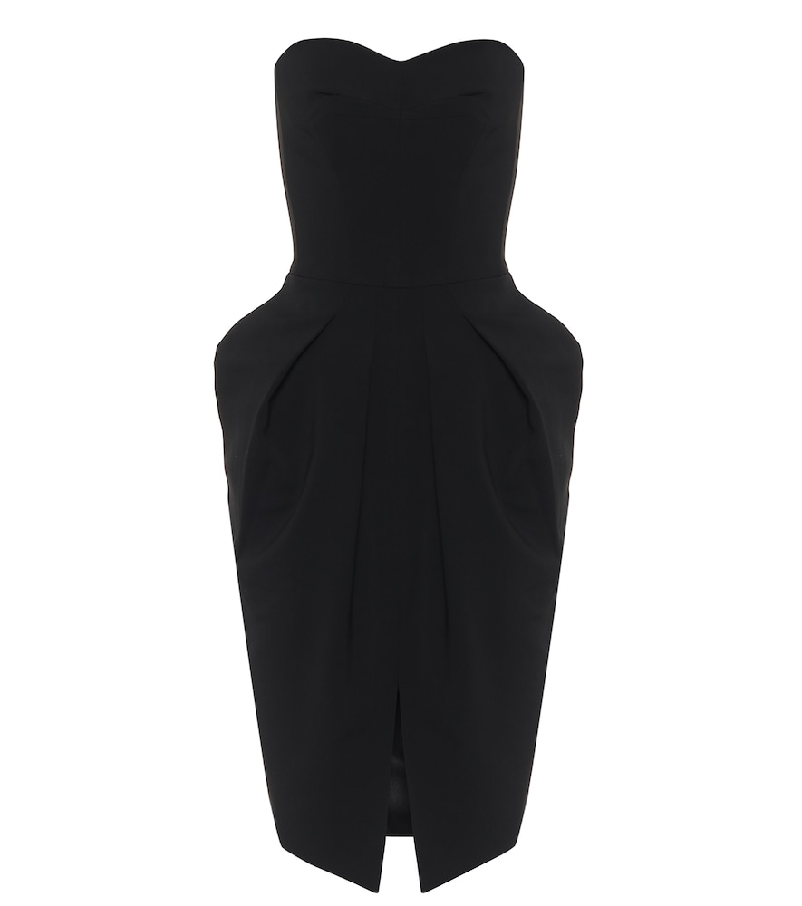 Neuron strapless cady midi dress