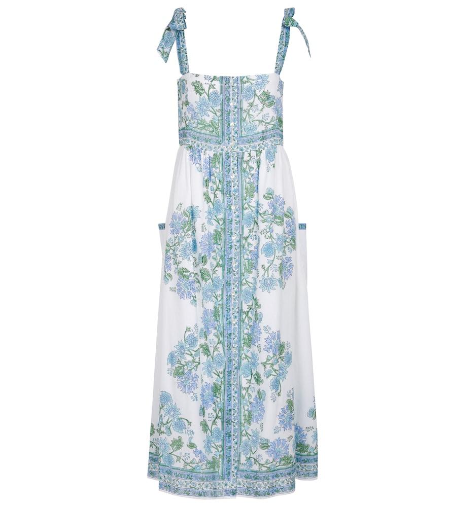 Floral cotton midi dress
