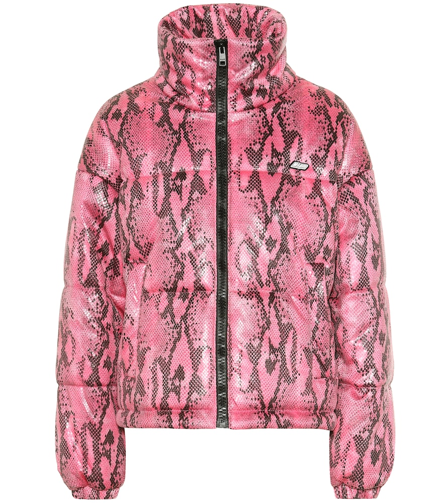 Snake-effect puffer jacket by MSGM
