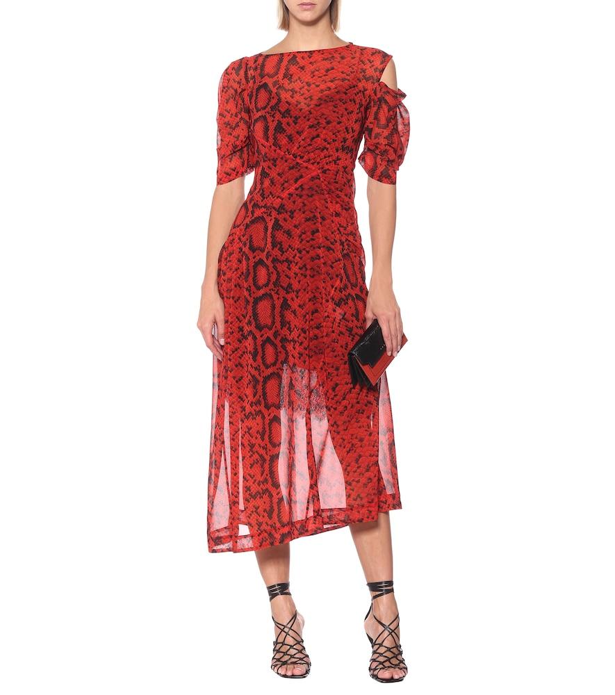 Franny georgette midi dress by Preen by Thornton Bregazzi