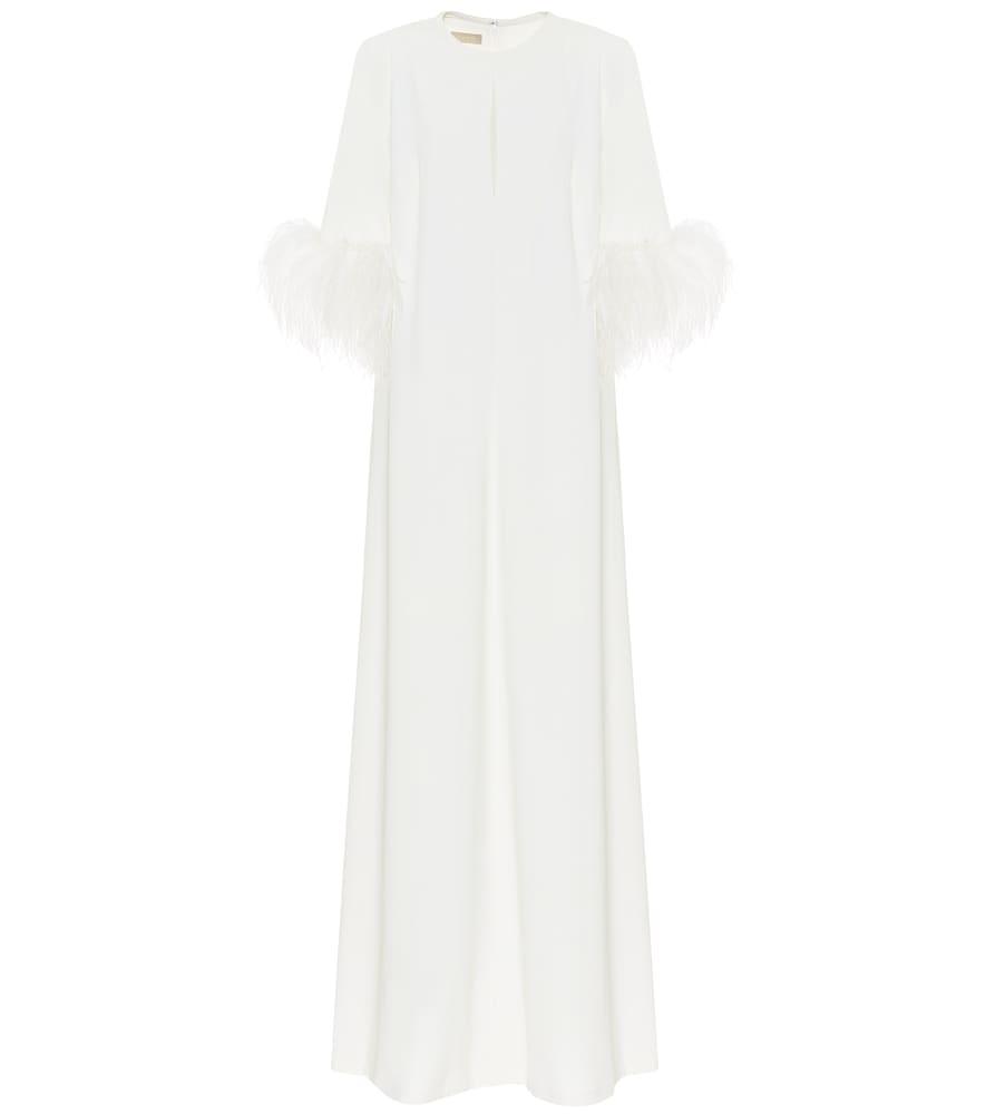 Exclusivité Mytheresa – Robe longue en crêpe à plumes - Elie Saab - Modalova