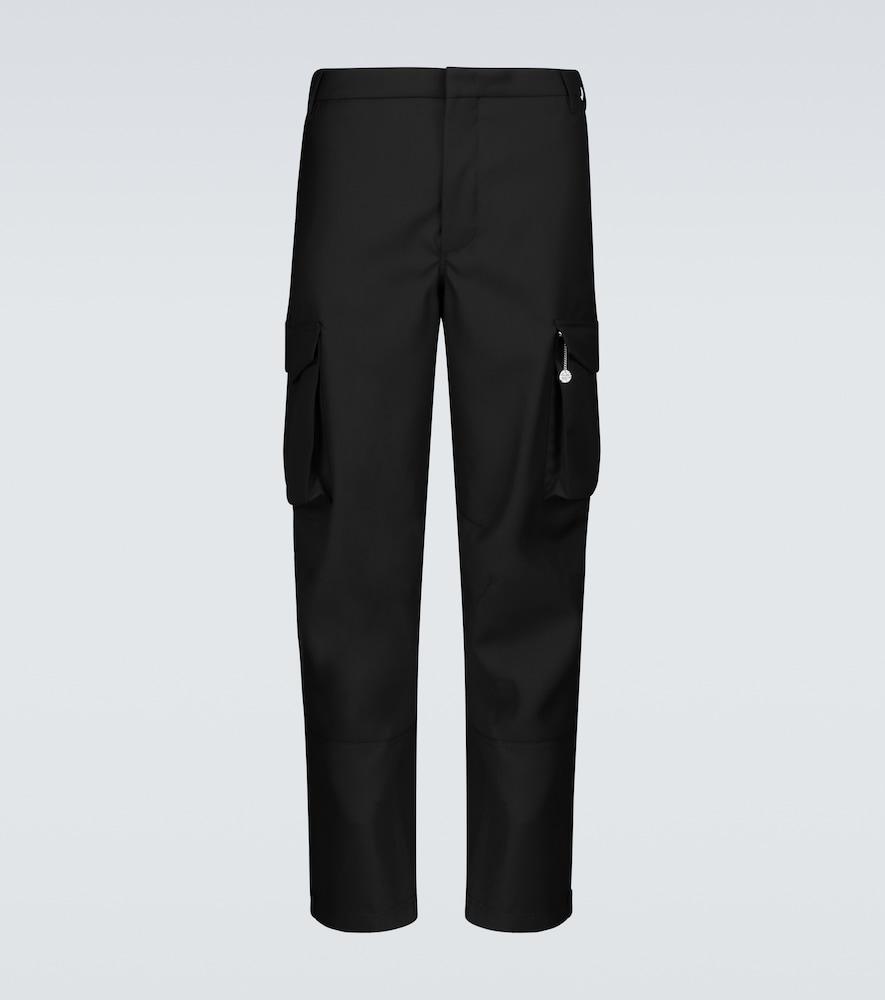 Virgin wool cargo pants