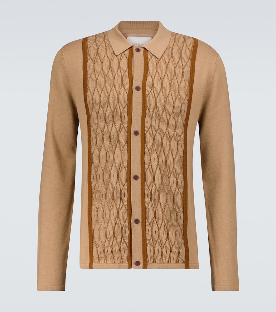 King And Tuckfield KNITTED WOOL SHIRT