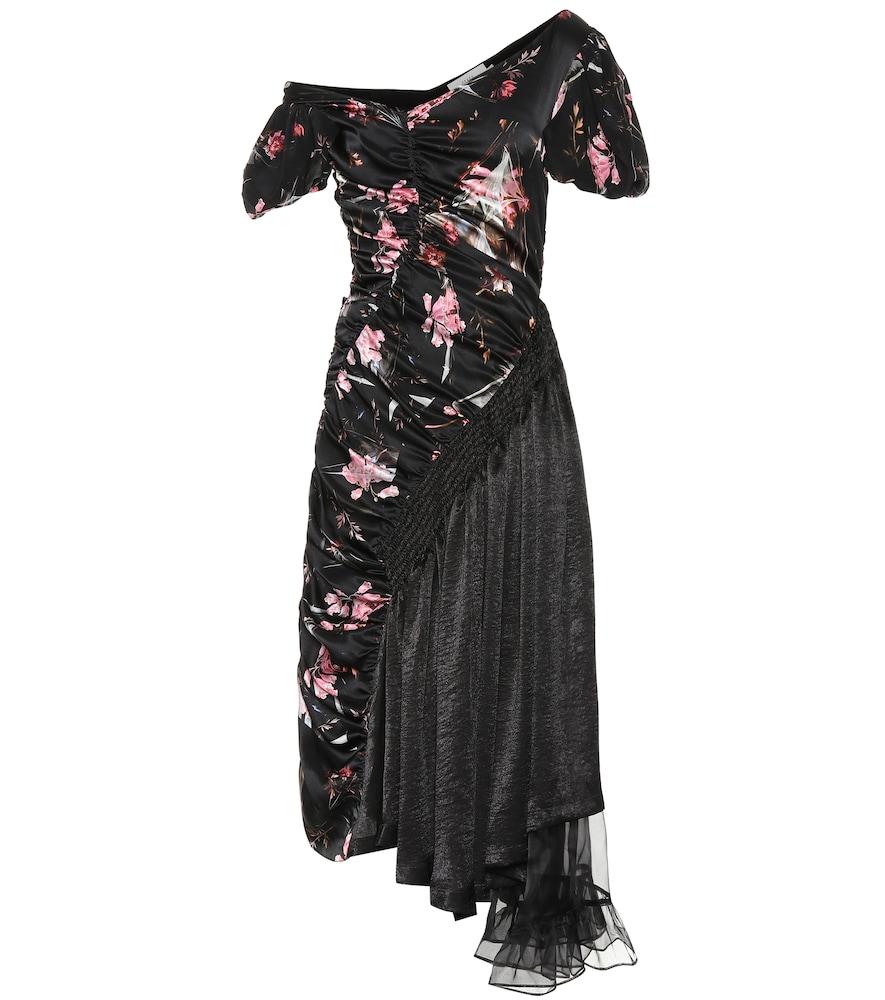 PREEN BY THORNTON BREGAZZI FLORAL SILK DRESS