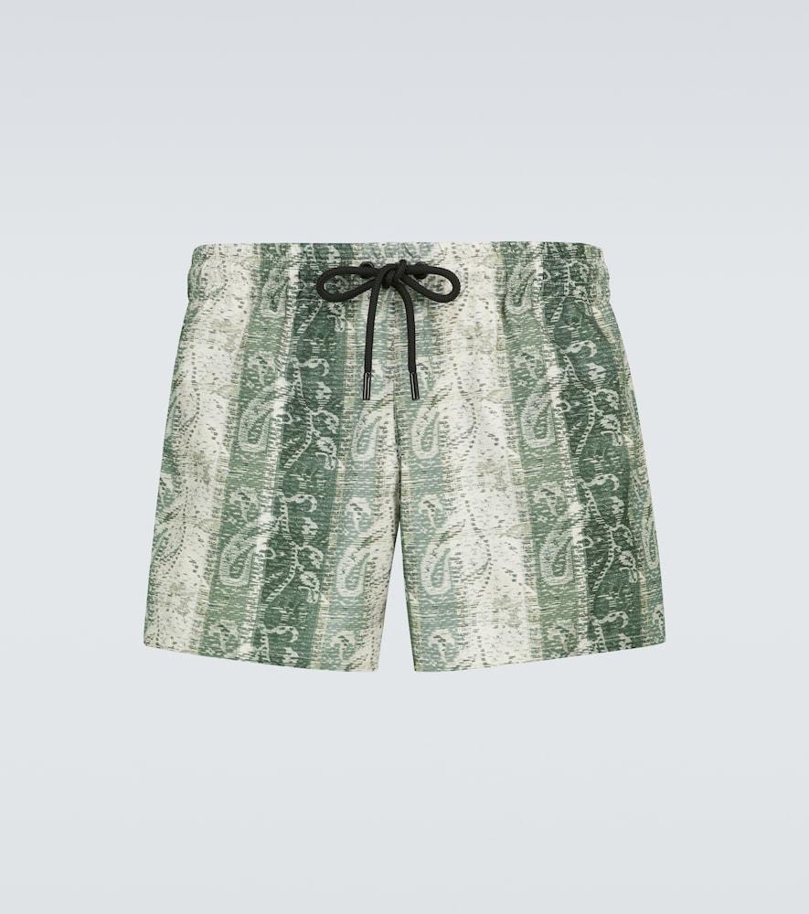 Jacquard printed swim shorts
