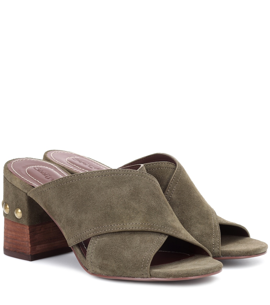 STUDDED SUEDE SANDALS from mytheresa.com