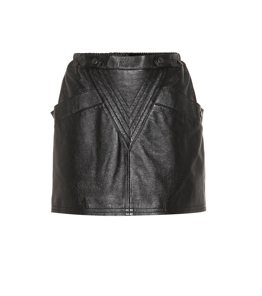 Mini-jupe en cuir - Saint Laurent - Modalova