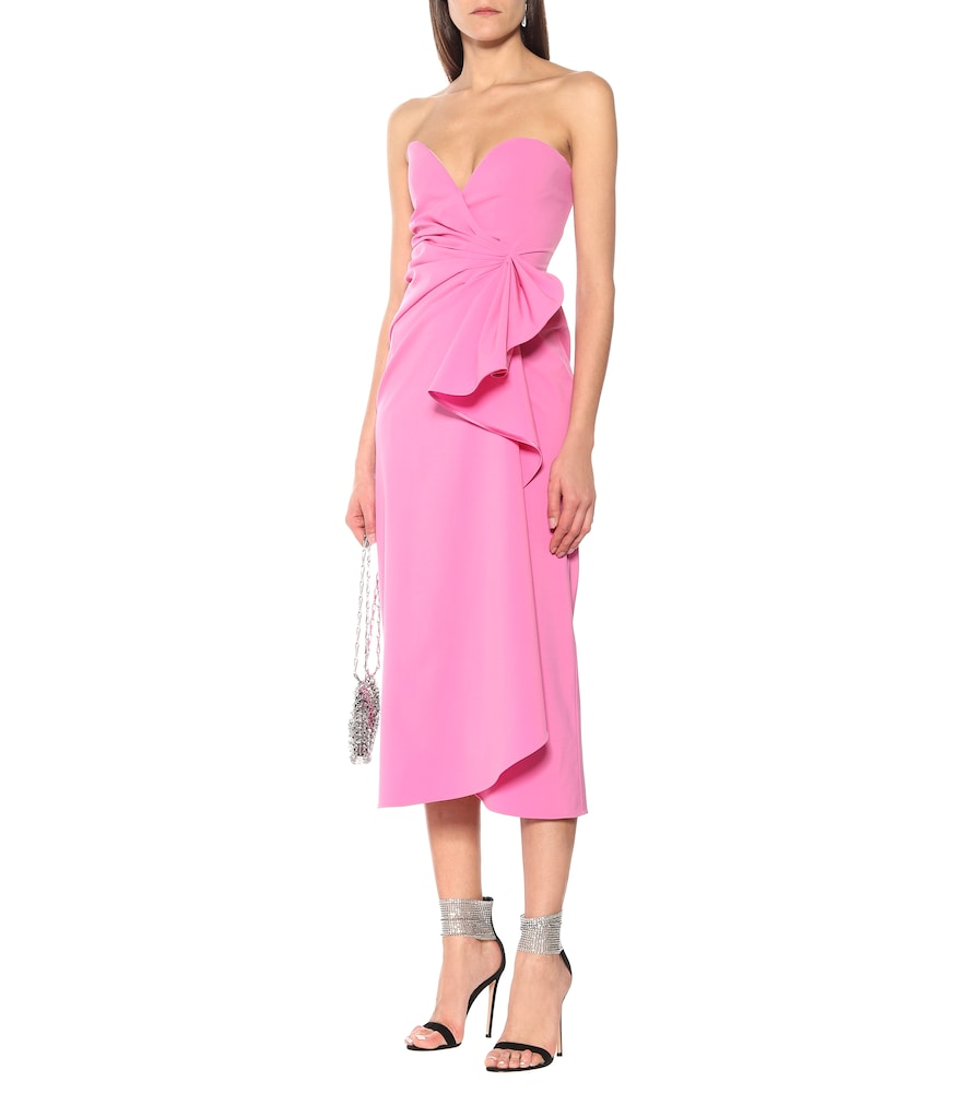 Strapless stretch-wool strapless gown by The Attico