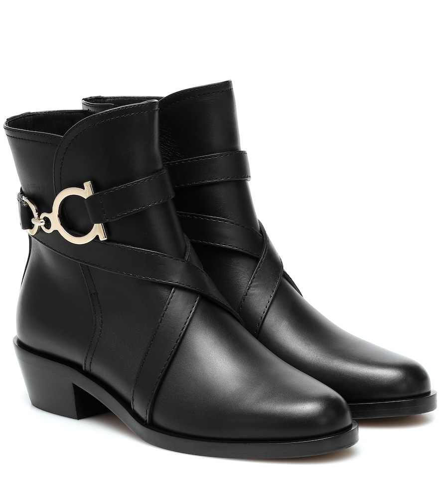 Bottines Shadi en cuir - Salvatore Ferragamo - Modalova