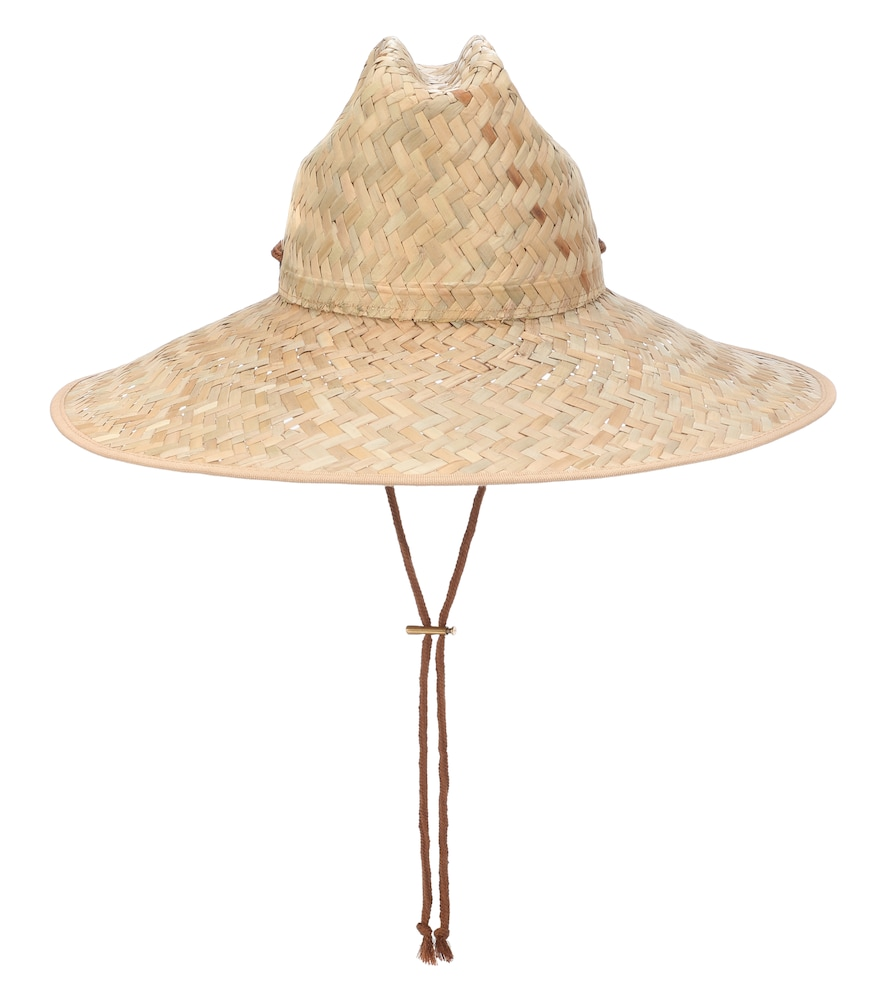 bee489c4b14 Gucci Wide-Brimmed Straw Hat In Beige