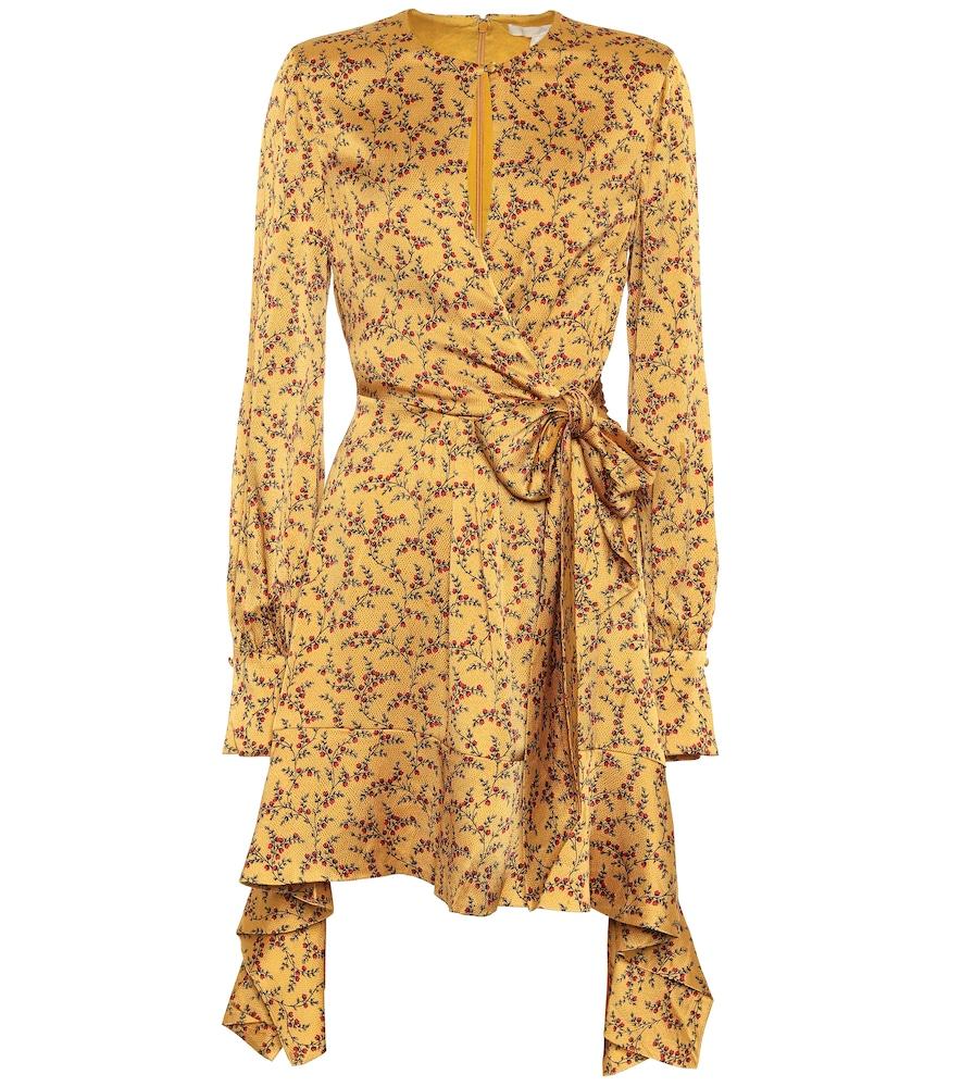 Robe imprimée en satin de soie mélangée