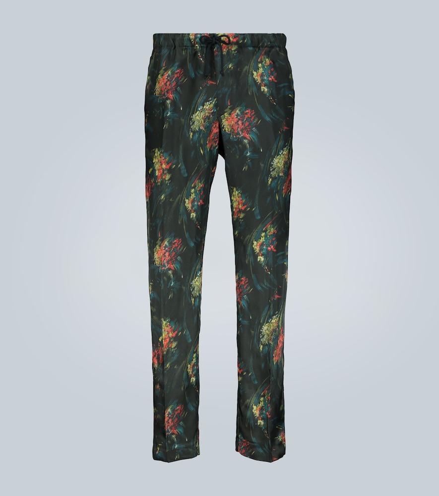 Pantalon à imprimé floral - Dries Van Noten - Modalova