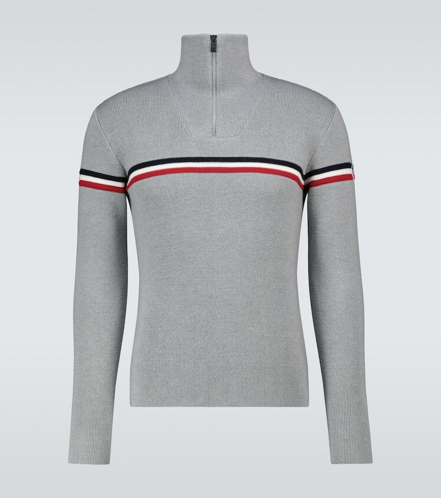 Wengen half-zipped sweater