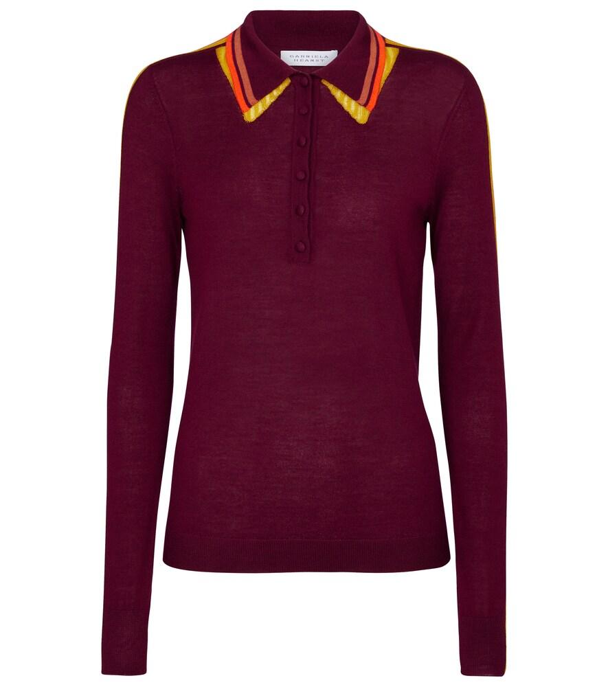 Gabriela Hearst Manuel cashmere and silk polo shirt