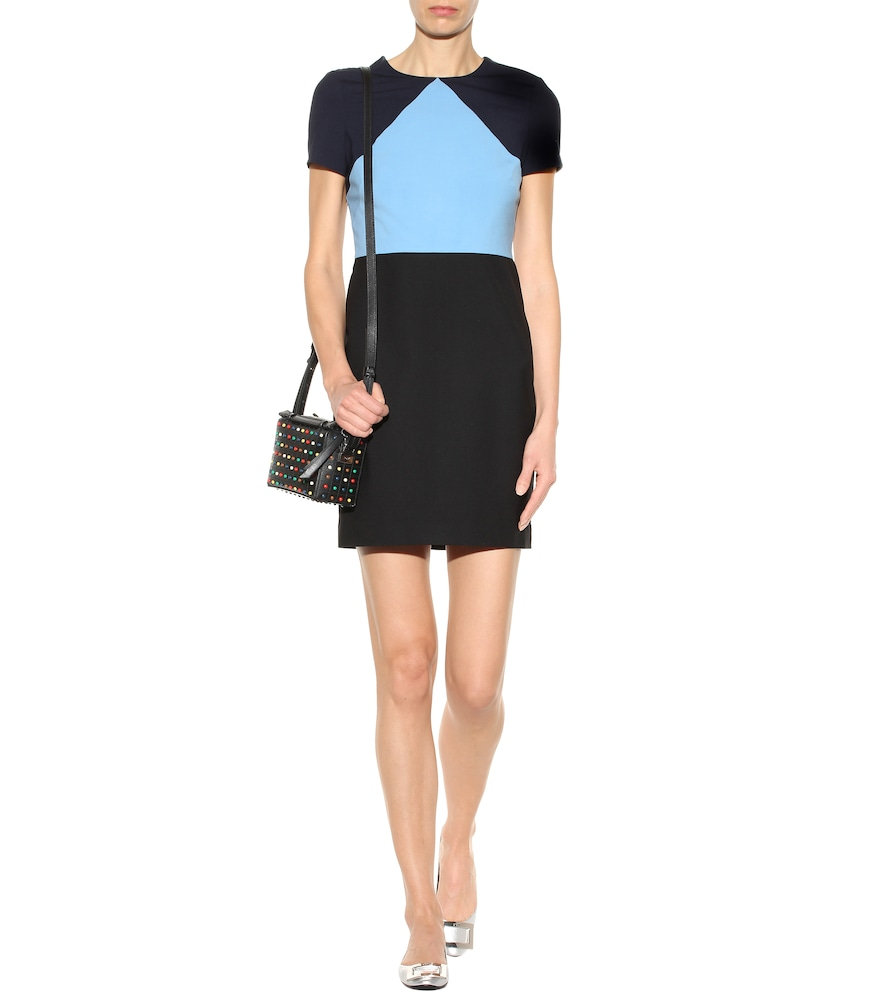Wool-crêpe minidress by Diane von Furstenberg