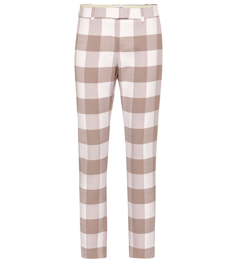 Henri Mid-Rise Straight Pants in Beige