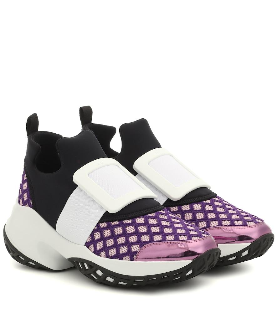 Roger Vivier Viv' Run Sneakers In Purple