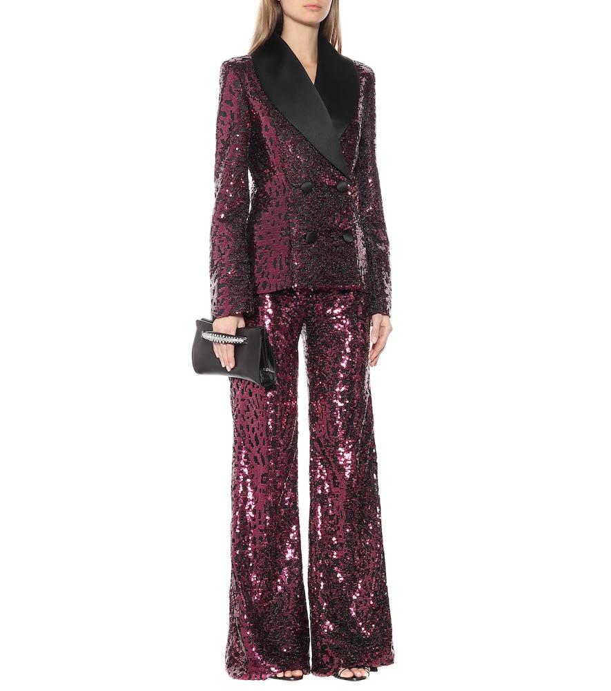 Sequined tuxedo blazer by Halpern