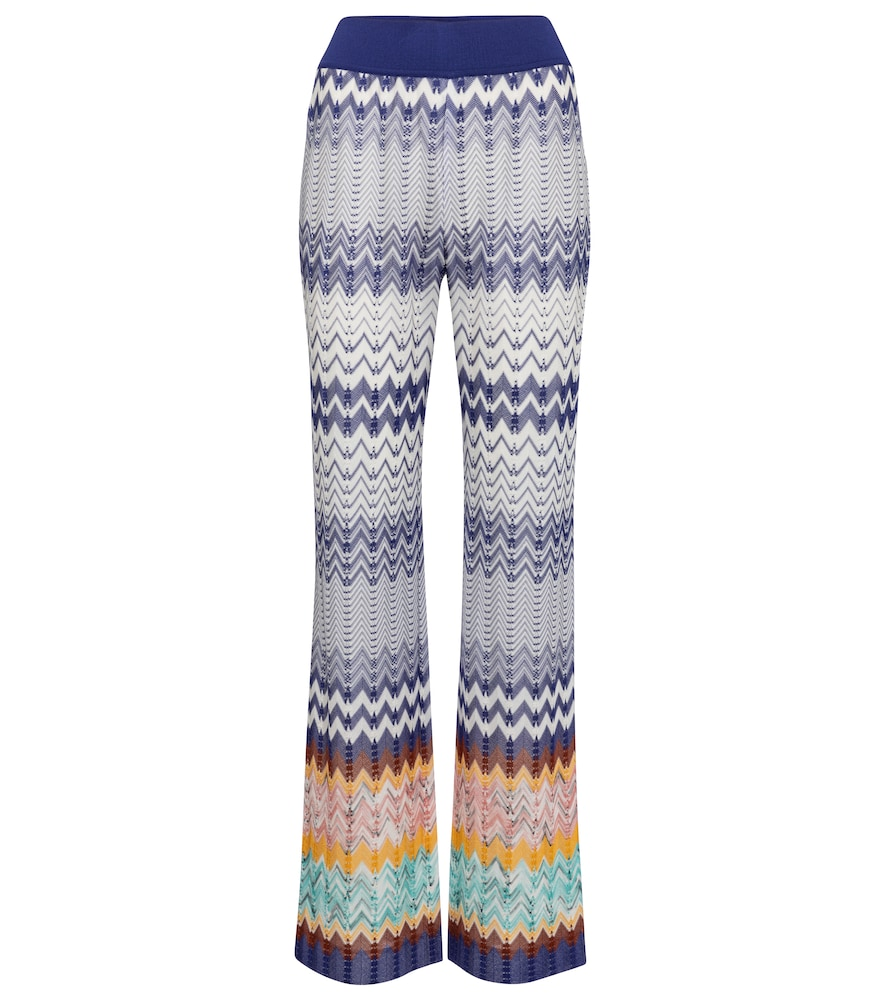 Missoni ZIG-ZAG KNIT STRAIGHT PANTS