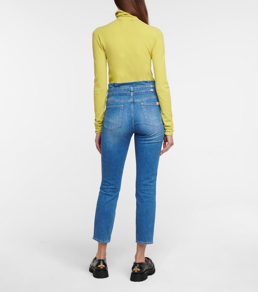 7 FOR ALL MANKIND Pants HIGH-RISE SKINNY PAPERBAG JEANS