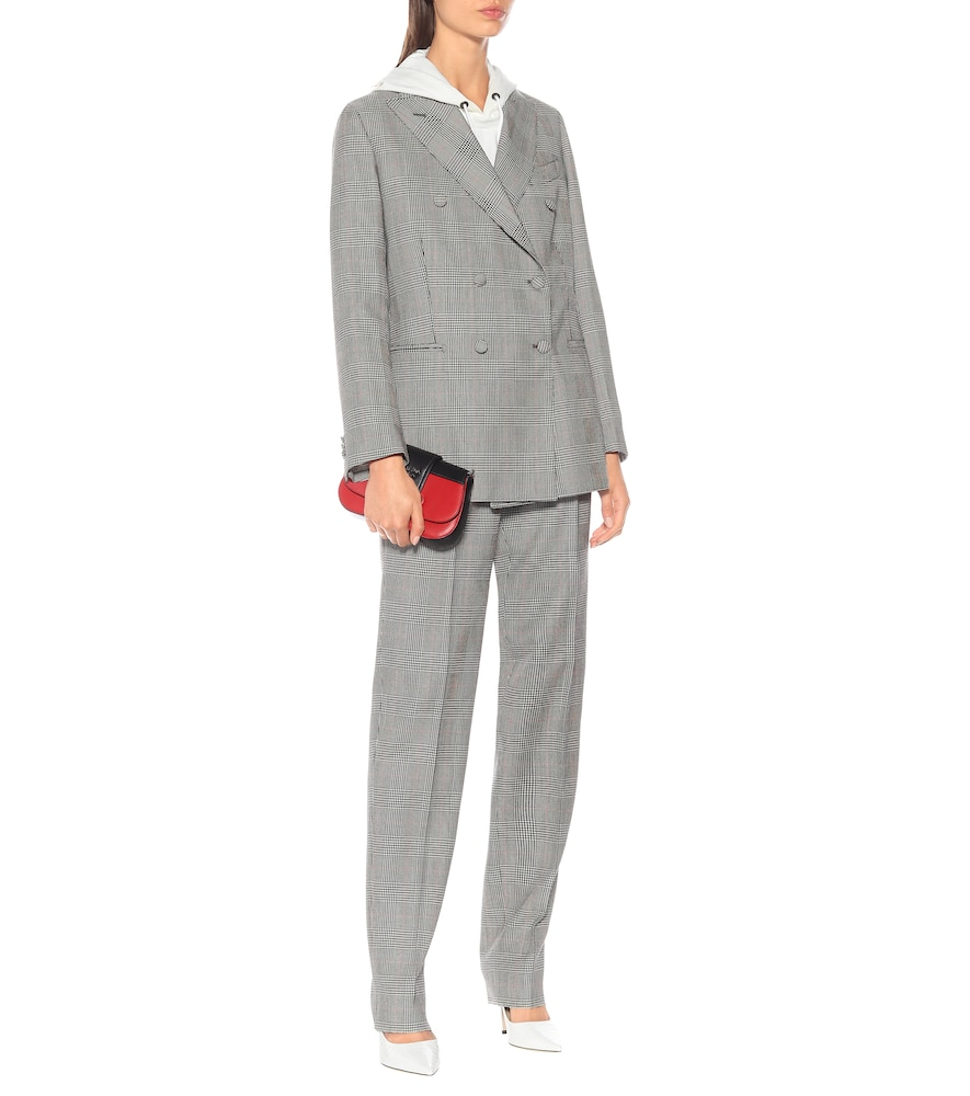 Cornelia checked wool blazer by Giuliva Heritage Collection