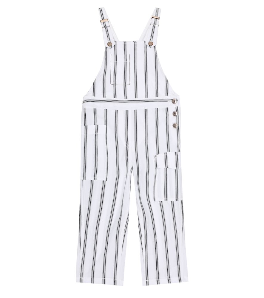 Brunello Cucinelli EXCLUSIVE TO MYTHERESA - STRIPED COTTON OVERALLS