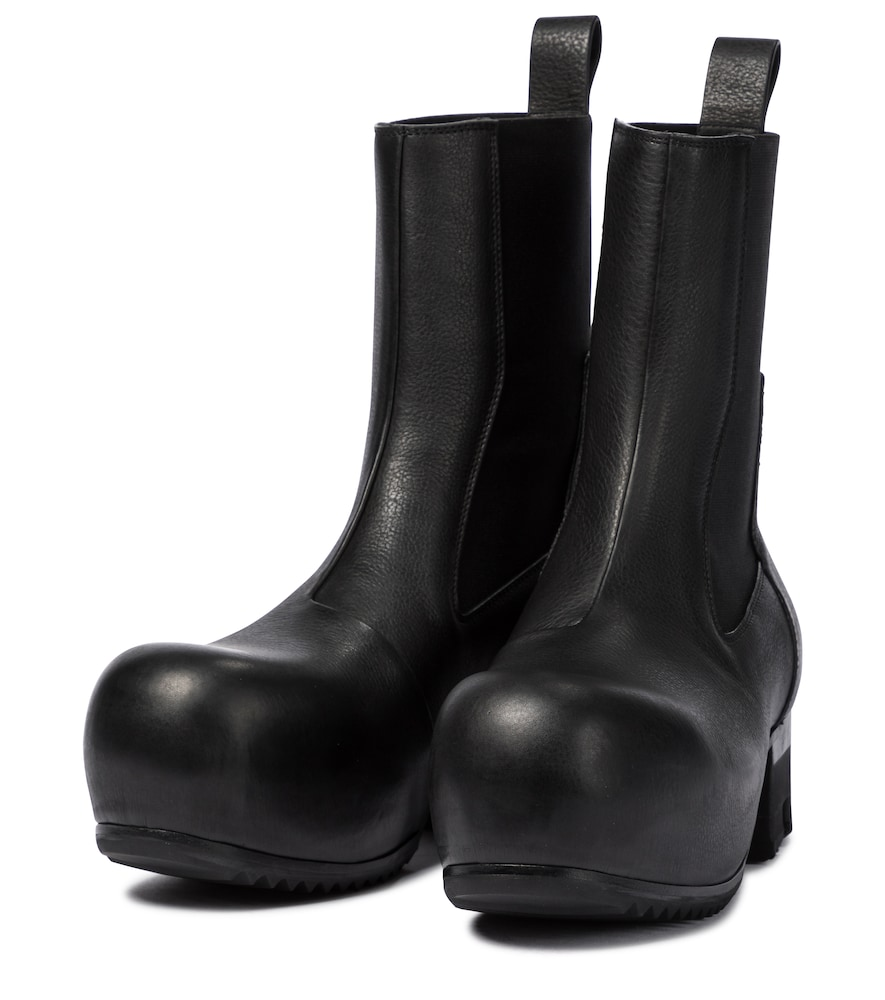 RICK OWENS Leathers BEETLE LEATHER CHELSEA BOOTS