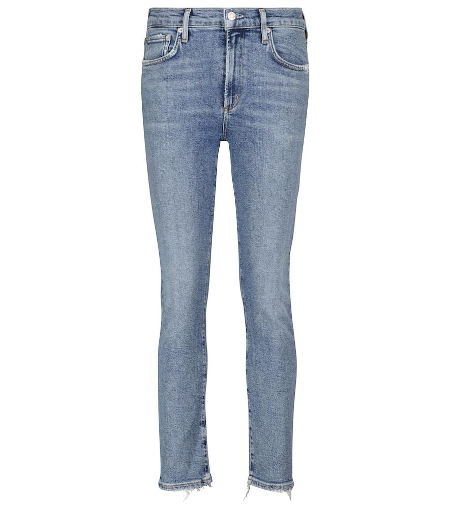 Toni mid-rise slim jeans