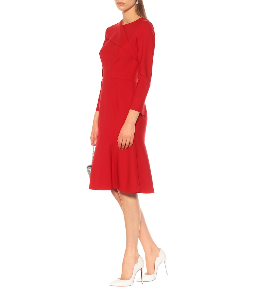 Stretch wool midi dress by Oscar de la Renta