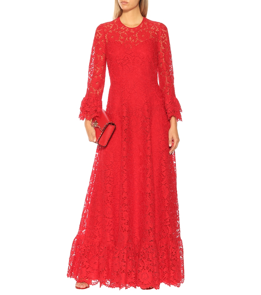 Lace gown by Valentino