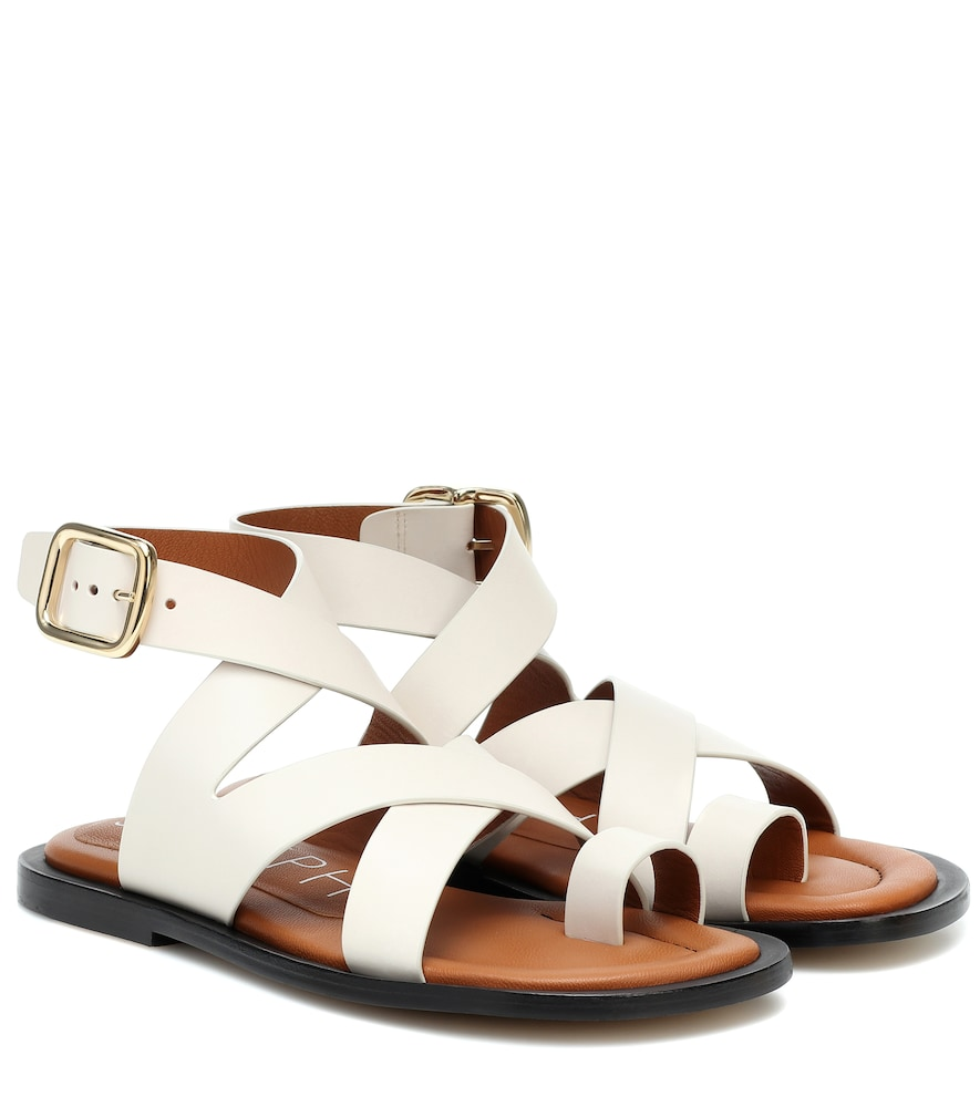 Joseph Leather Sandals In White