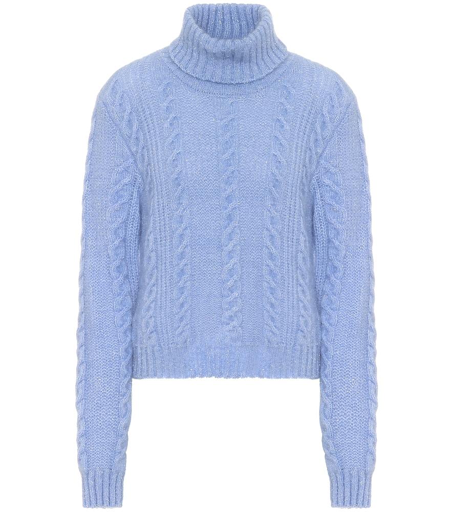 Exclusivité Mytheresa – Pull à col roulé en laine mélangée - Versace - Modalova