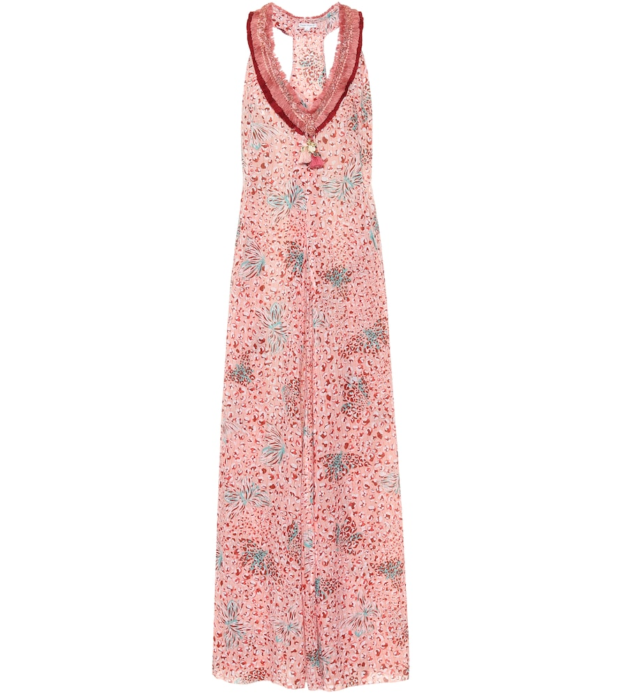 Nava printed cotton maxi dress