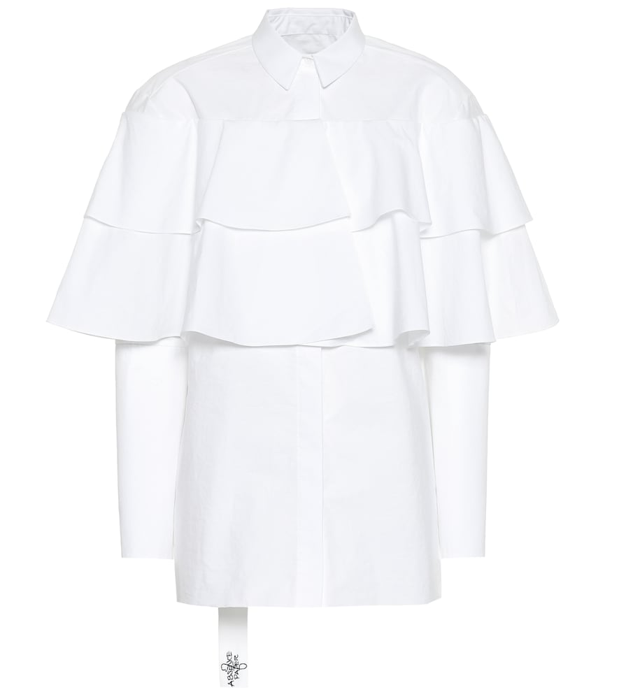 ABSENCE OF PAPER Poppins Cotton Shirt in White