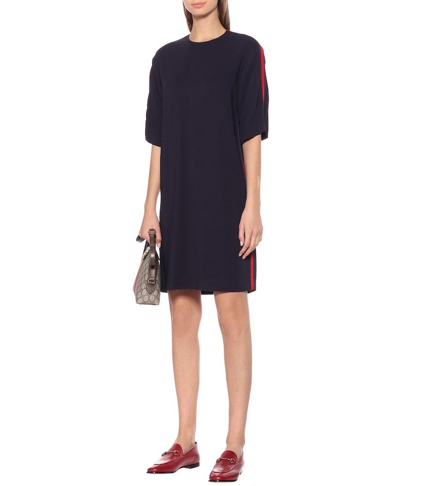 Stretch cady shirt dress by Gucci