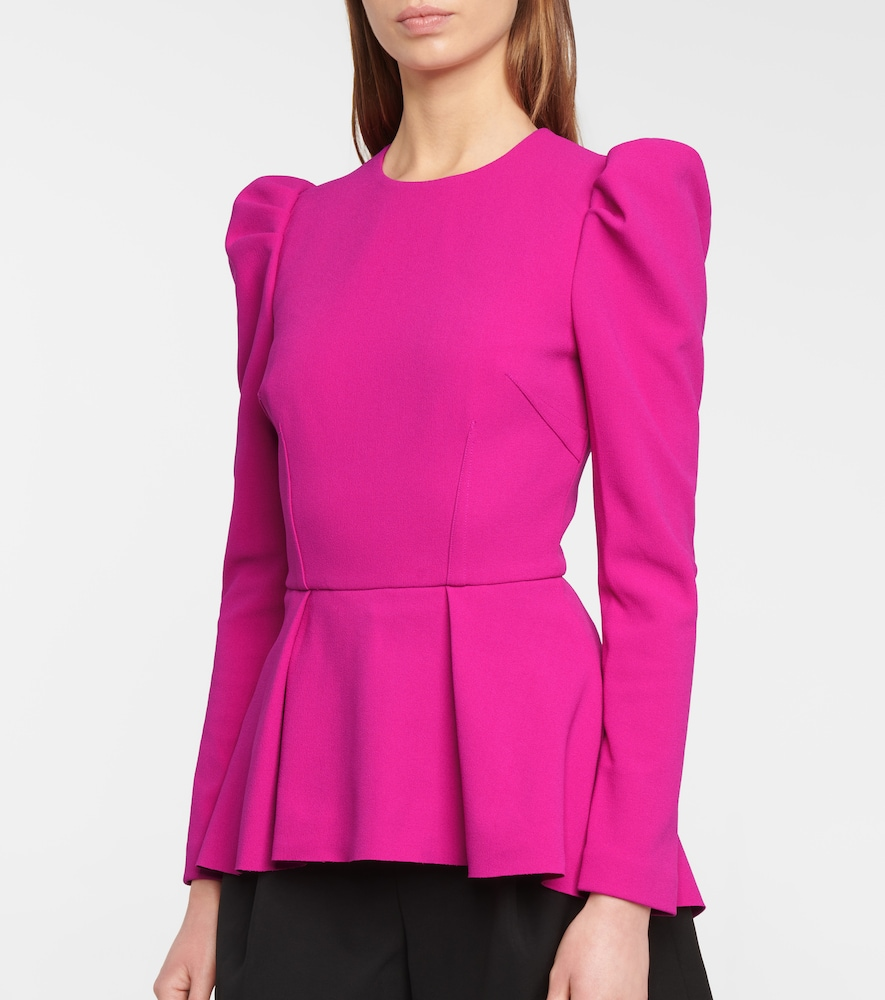 REBECCA VALLANCE Linings AMINA CRÊPE PEPLUM TOP