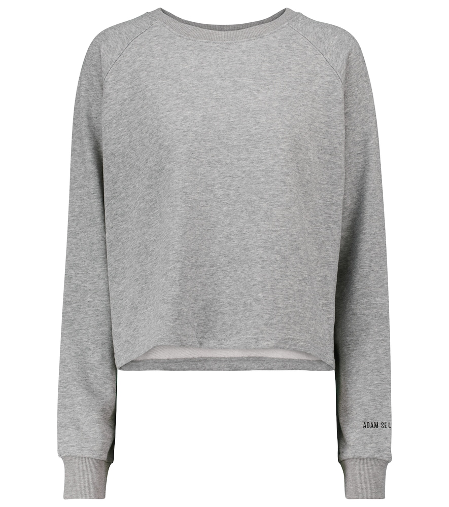 Stretch-cotton cropped sweatshirt