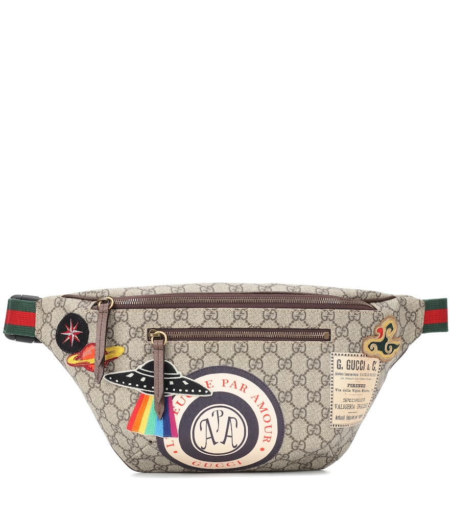 GG SUPREME APPLIQUÉD BELT BAG