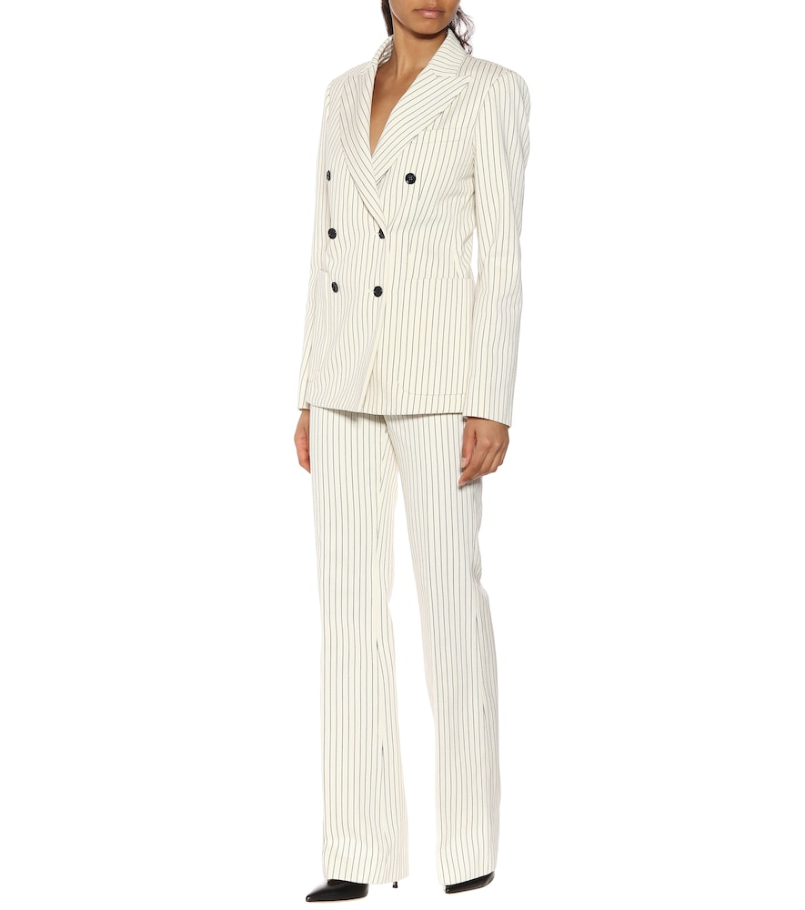 Maire pinstripe cotton blazer by Loro Piana