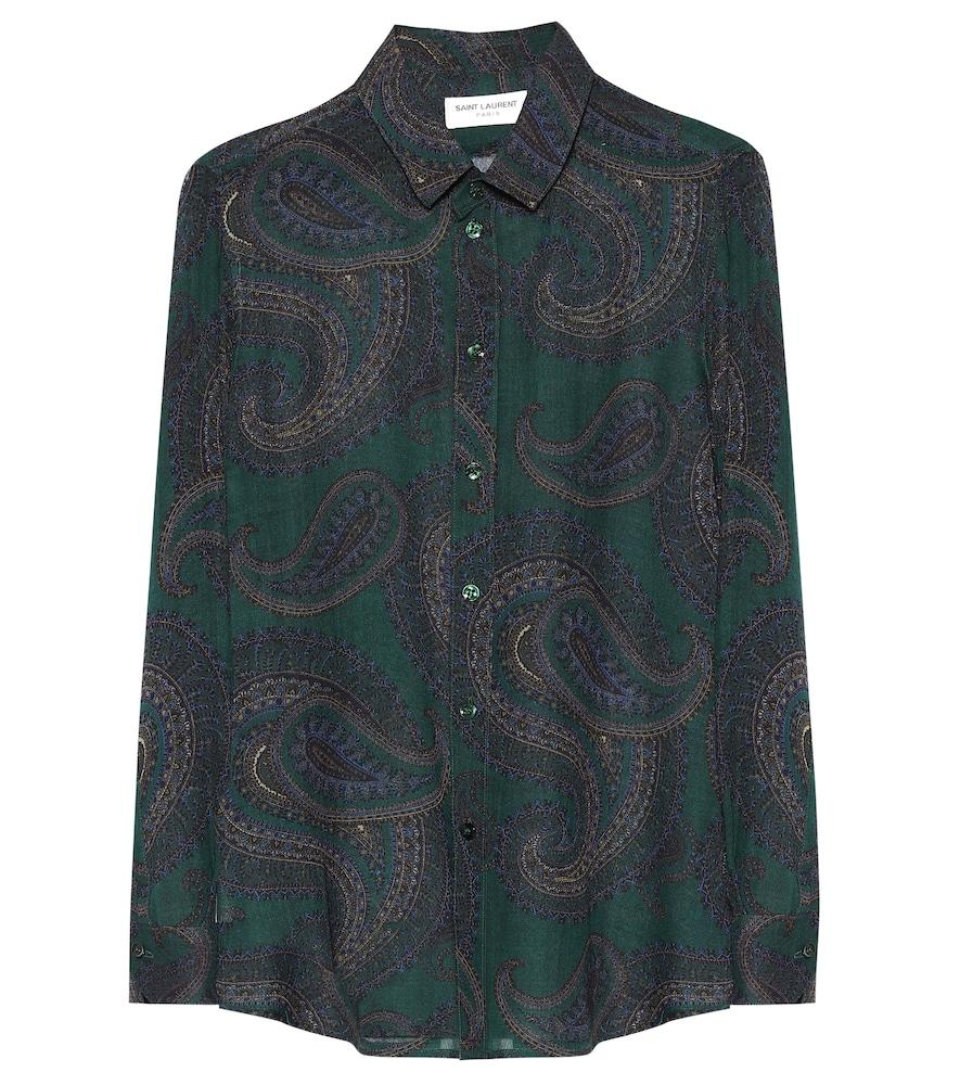 Paisley wool shirt