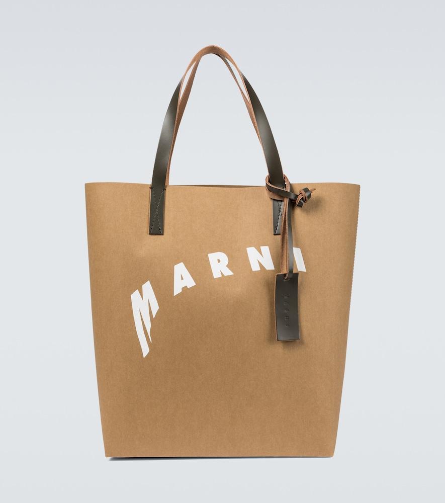 MARNI SHOPPING TOTE BAG WITH LOGO