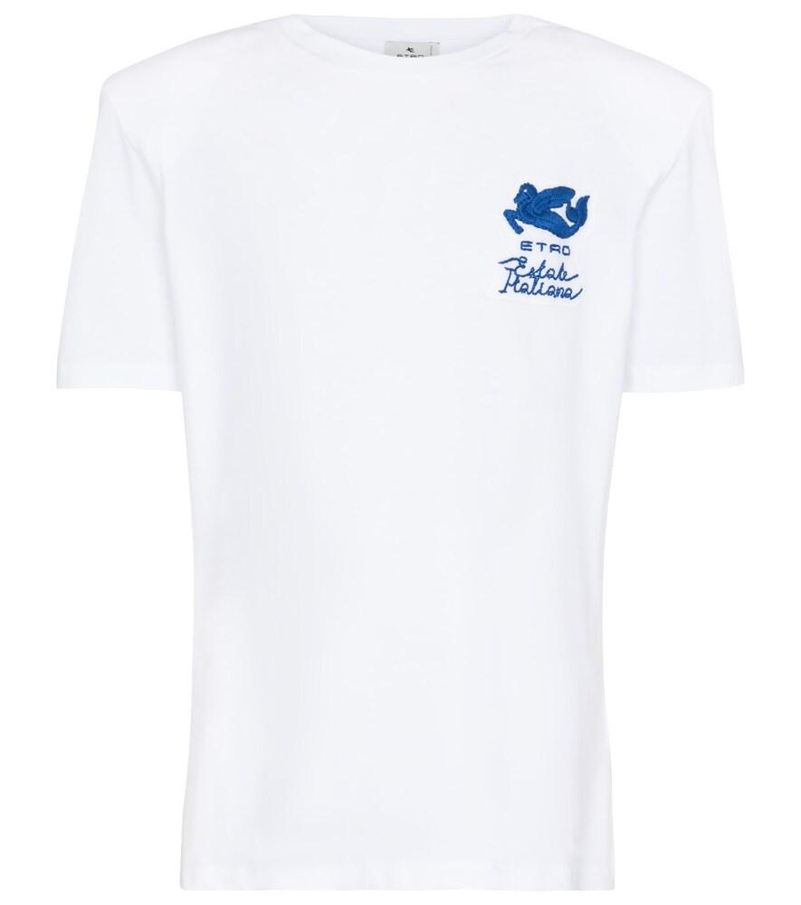 ETRO Logo embroidered cotton T-shirt