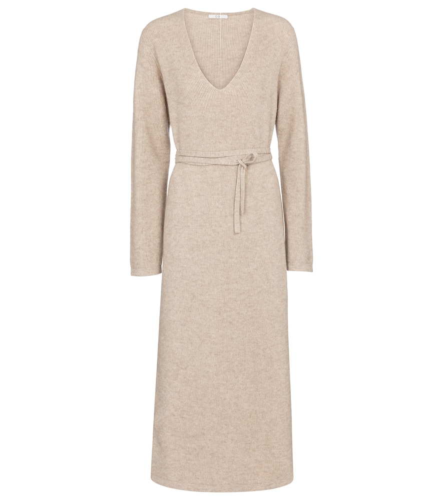 Co Wools RIBBED-KNIT WOOL AND CASHMERE MAXI DRESS