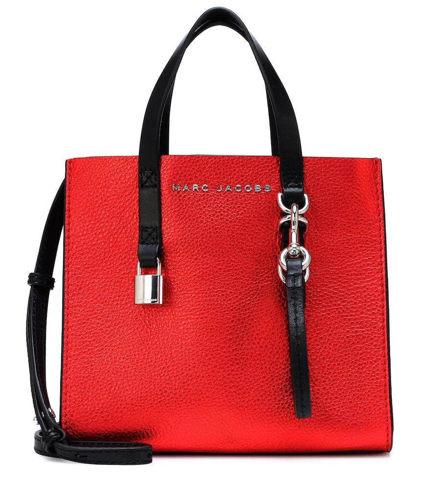 The Mini Grind Leather Tote in Red