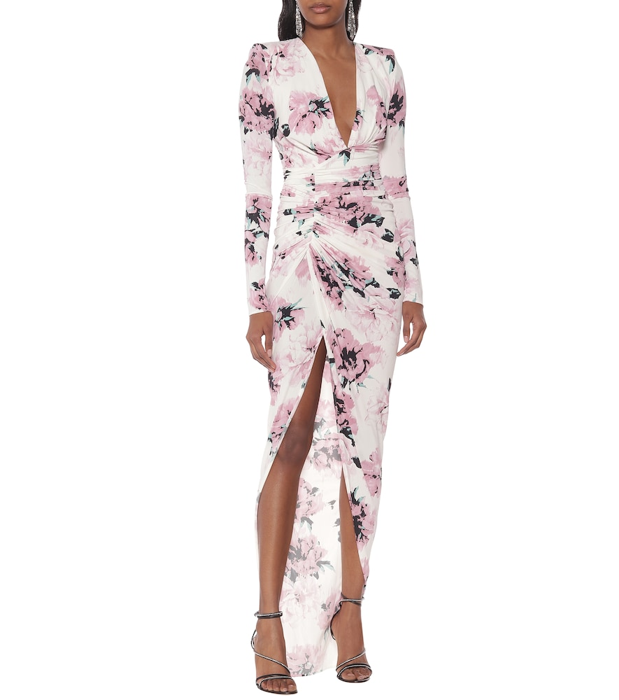 Floral stretch-jersey maxi dress by Alexandre Vauthier