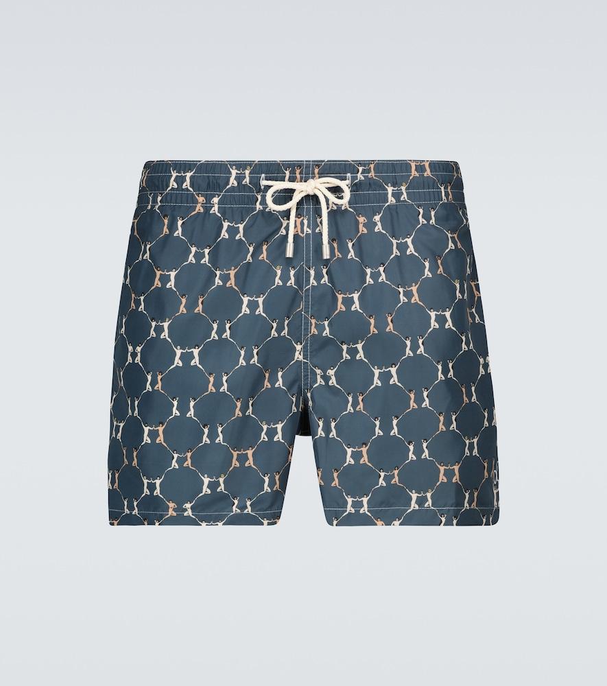 Navy One Love x Batabasta swim shorts