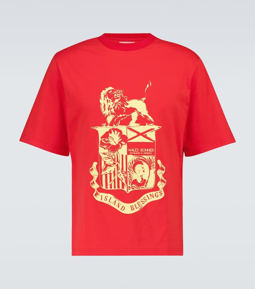 Wales Bonner Cottons JOHNSON CREST T-SHIRT